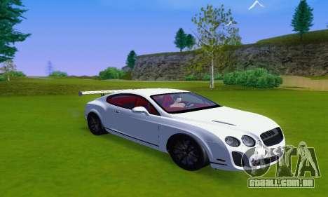 Bentley Continental Extremesports para GTA San Andreas traseira esquerda vista