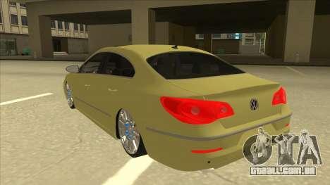 VW Passat CC para GTA San Andreas vista traseira