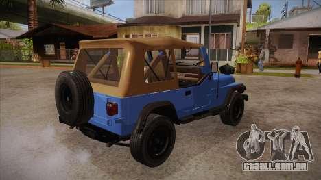 Jeep Wrangler V10 TT Black Revel para GTA San Andreas vista direita