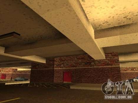 Nova garagem interior polícia HP para GTA San Andreas terceira tela