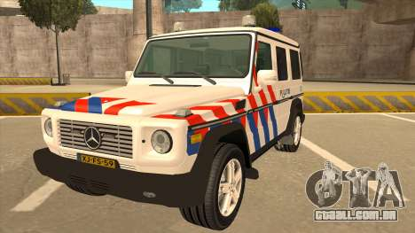 European Emergency Mercedes-Benz G 2008 para GTA San Andreas