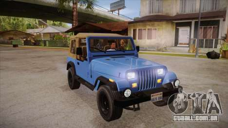 Jeep Wrangler V10 TT Black Revel para GTA San Andreas vista traseira