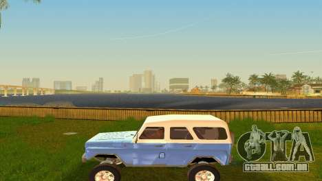 UAZ 3151 para GTA Vice City vista interior