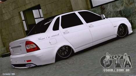 Lada Priora AMG Version para GTA San Andreas traseira esquerda vista