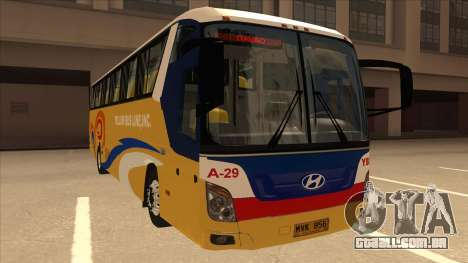 Yellow Bus Line A-29 para GTA San Andreas esquerda vista