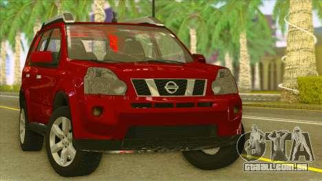 Nissan X-Trail 2009 para GTA San Andreas vista traseira