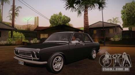 Datsun 510 RB26DETT Black Revel para GTA San Andreas vista interior