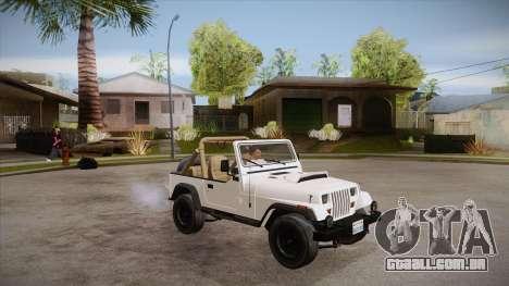 Jeep Wrangler V10 TT Black Revel para vista lateral GTA San Andreas