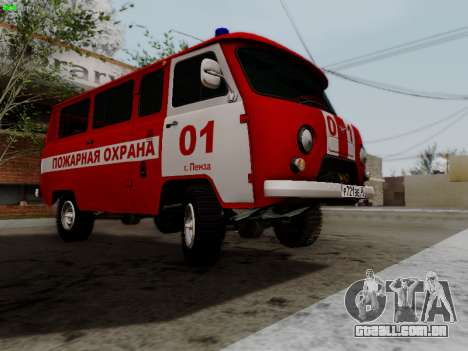 UAZ 452 Fire Staff Penza Russia para GTA San Andreas vista interior