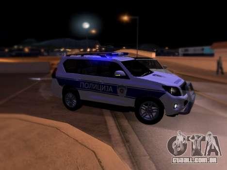 Toyota Land Cruiser POLICE para GTA San Andreas esquerda vista