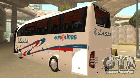 Mercedes-Benz Lasta Bus para GTA San Andreas vista traseira
