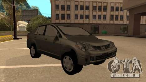 Nissan Tiida sedan para GTA San Andreas esquerda vista