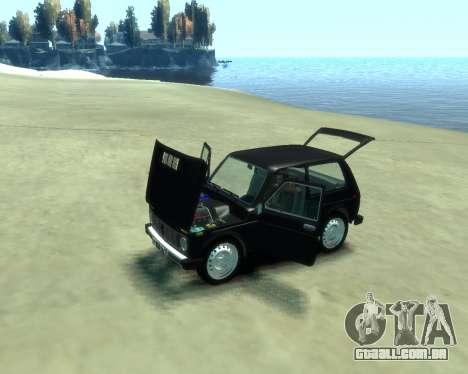VAZ 2121 Niva para GTA 4 traseira esquerda vista