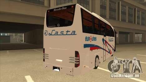 Mercedes-Benz Lasta Bus para GTA San Andreas vista direita