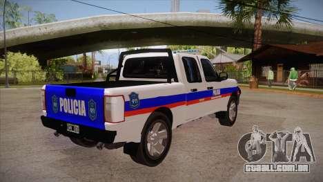 Ford Ranger 2011 Province of Buenos Aires Police para GTA San Andreas vista direita