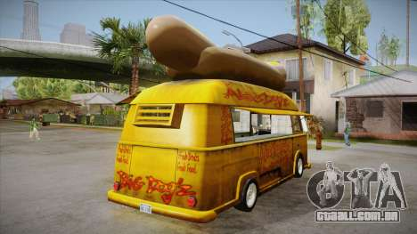 Hot Dog Van Custom para GTA San Andreas vista direita