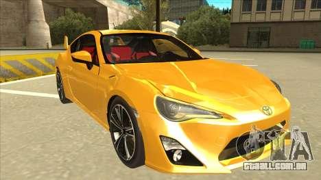 TOYOTA GT86 2JZ-GTE Black Revel para GTA San Andreas esquerda vista