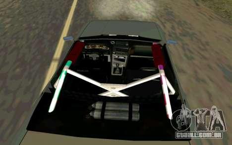 Elegy Cabrio para GTA San Andreas traseira esquerda vista