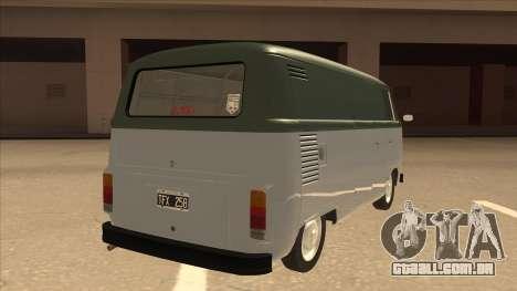 VW T2 Van para GTA San Andreas vista direita