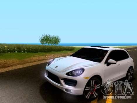 Porsche Cayenne Turbo S 2013 V1.0 para GTA San Andreas esquerda vista