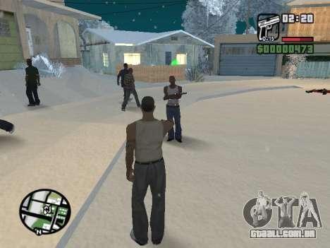 Alternar entre personagens como em GTA V para GTA San Andreas sexta tela
