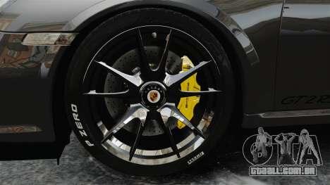 Porsche 997 GT2 2012 Simple version para GTA 4 vista de volta