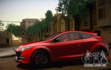 Renault Megane RS Tunable para o motor de GTA San Andreas