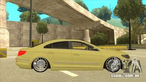 VW Passat CC para GTA San Andreas traseira esquerda vista