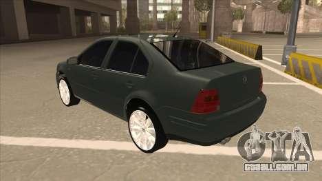 Jetta 2003 Version Normal para GTA San Andreas vista traseira
