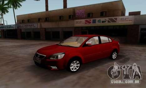 Kia Rio para GTA San Andreas