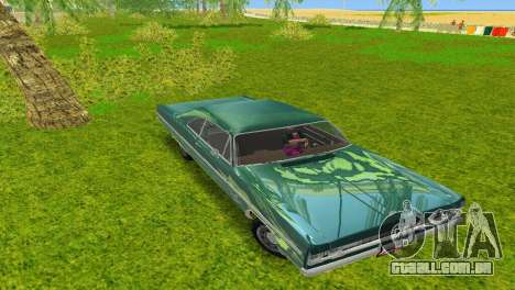 Plymouth Fury III 1969 Coupe para GTA Vice City vista direita