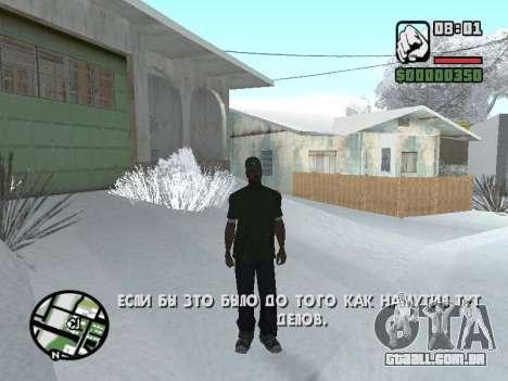 Alternar entre personagens como em GTA V para GTA San Andreas segunda tela