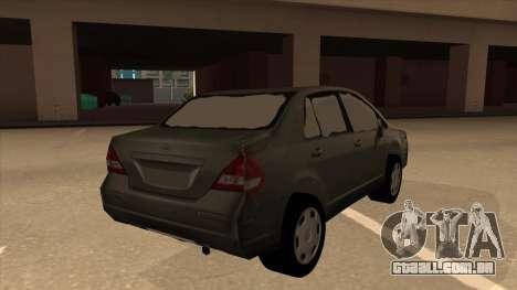 Nissan Tiida sedan para GTA San Andreas vista direita
