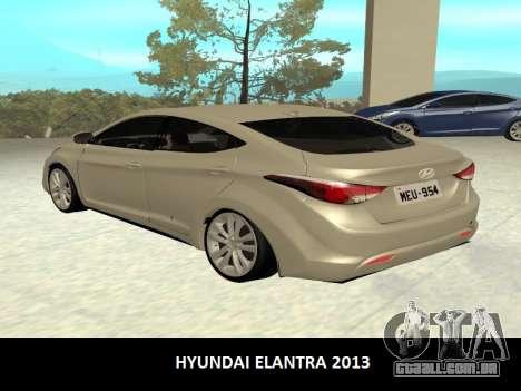 Hyundai Elantra 2013 para GTA San Andreas esquerda vista