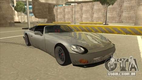 Banshee Stance para GTA San Andreas esquerda vista