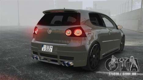 Volkswagen Golf GTi DT-Designs para GTA 4 traseira esquerda vista