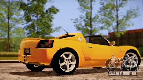 Opel Speedster Turbo 2004 para GTA San Andreas interior