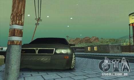 Lancia Delta HF Integrale para GTA San Andreas vista inferior