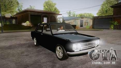 Datsun 510 RB26DETT Black Revel para GTA San Andreas vista traseira