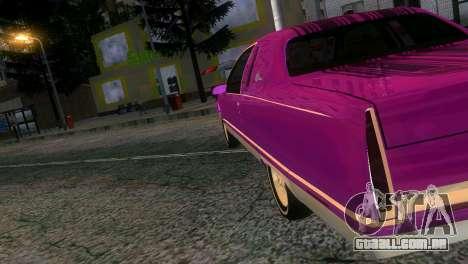 Cadillac Fleetwood Coupe para GTA Vice City deixou vista