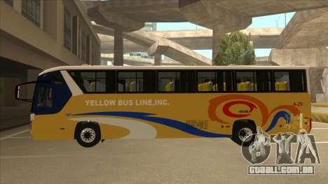 Yellow Bus Line A-29 para GTA San Andreas traseira esquerda vista