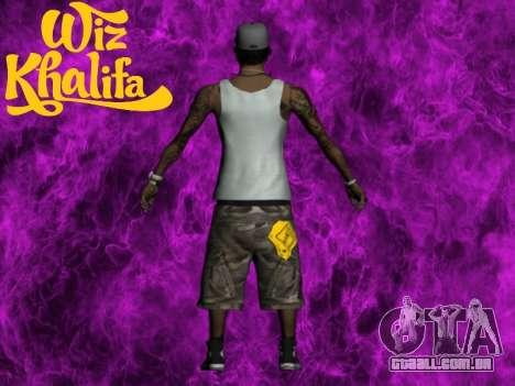 Wiz Khalifa para GTA San Andreas segunda tela