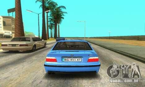 BMW M3 (E36) para GTA San Andreas vista direita