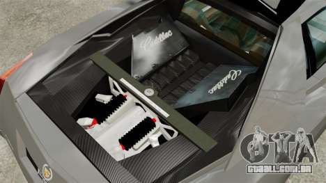 Cadillac Cien XV12 [EPM] para GTA 4 vista de volta