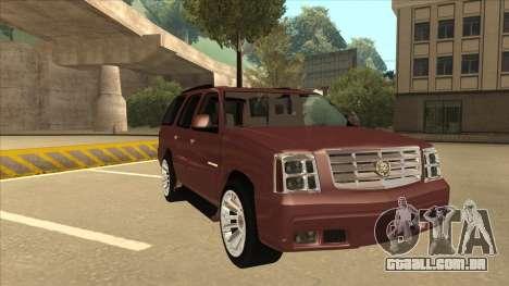 Cadillac Escalade 2002 para GTA San Andreas esquerda vista
