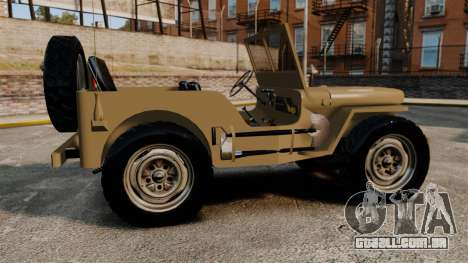 Willys MB para GTA 4 esquerda vista