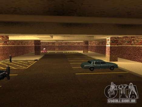 Nova garagem interior polícia HP para GTA San Andreas quinto tela