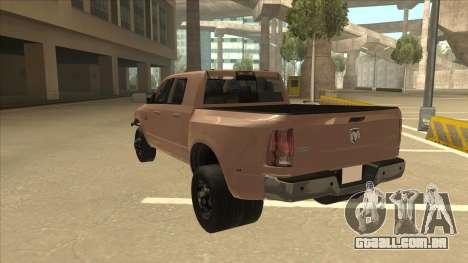 Dodge Ram [Johan] para GTA San Andreas vista traseira
