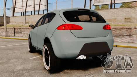 Seat Leon Gtaciyiz para GTA 4 traseira esquerda vista