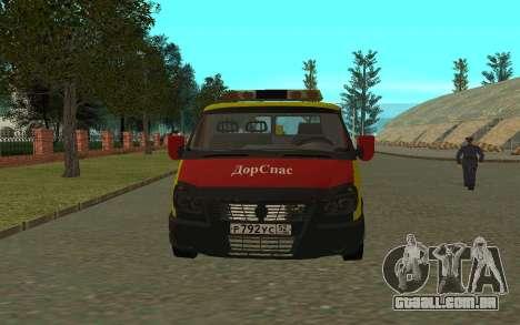 3302 gazela reboque negócios para GTA San Andreas esquerda vista
